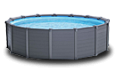 Бассейн INTEX Graphite Gray Panel Pools (круг)